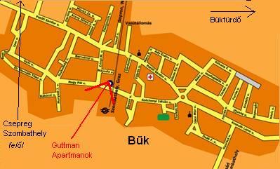 bükfürdő térkép Szállás Bükfürdő   Térkép bükfürdő térkép
