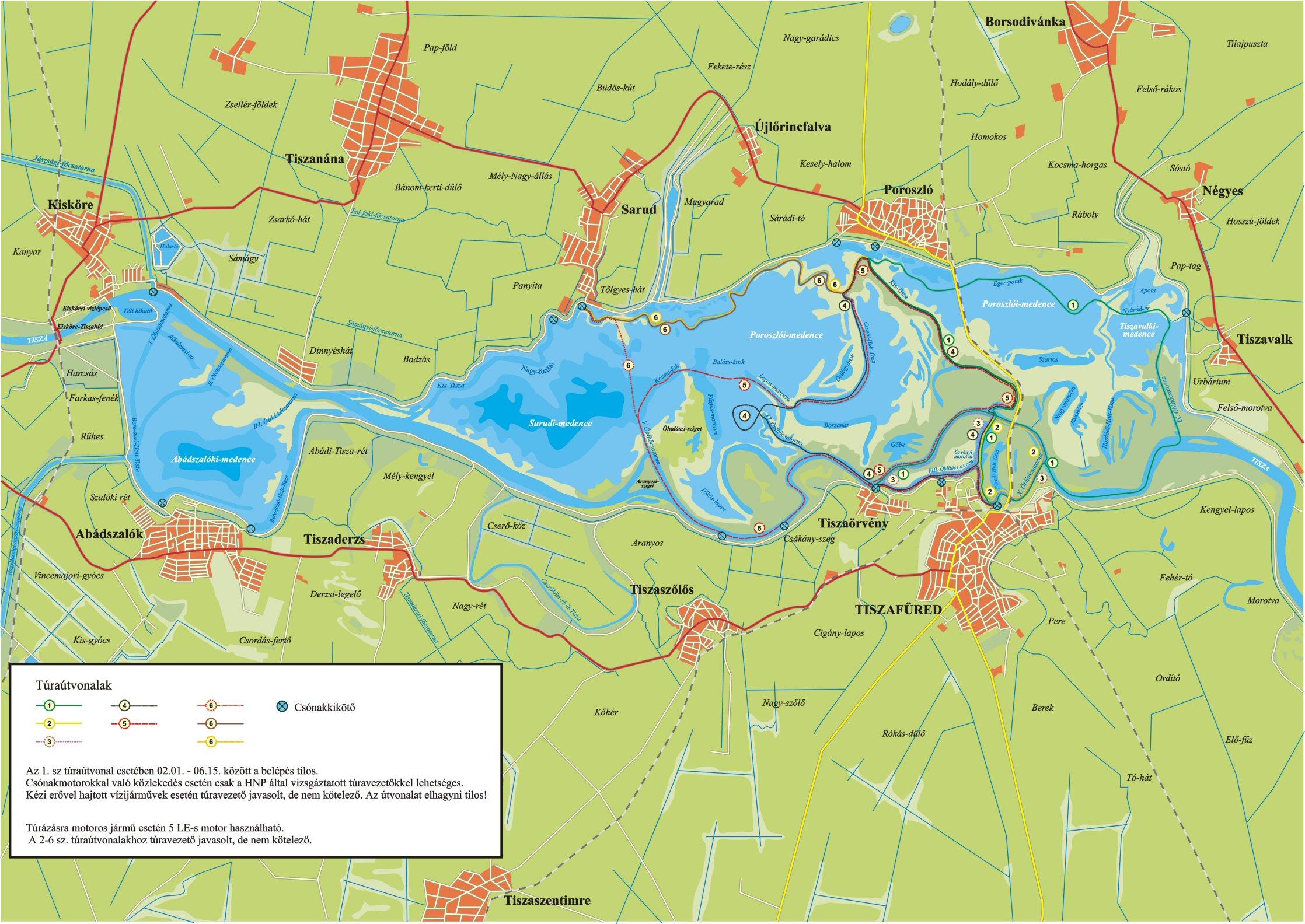 abádszalók térkép A Tisza  tó és környéke abádszalók térkép