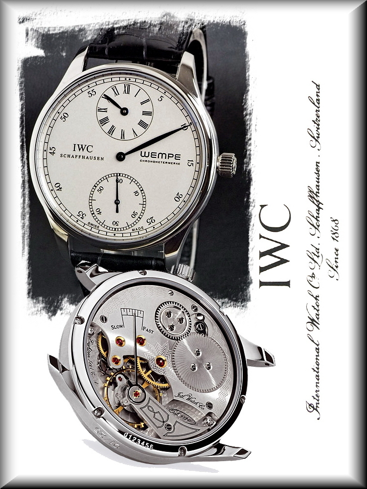 IWC Wempe Regulateur