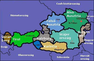 austria térkép Európa szíve, AUSZTRIA austria térkép