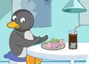 Éttermes játék pingvinekkel