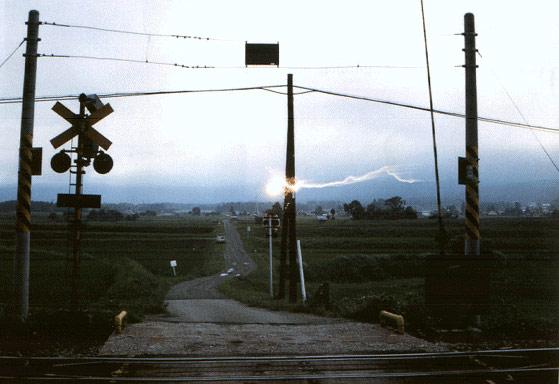 gömbvillám vasúti átkelőhelynél
