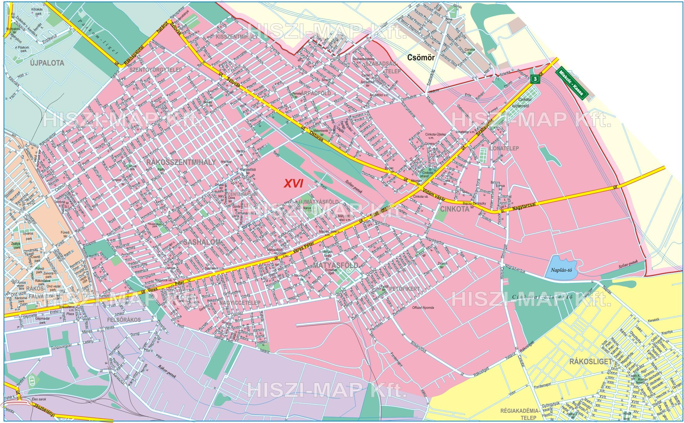 16 kerület térkép Házőr 16 kerület térkép
