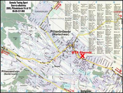 pilisvörösvár térkép GTS motorszervíz, Pilisvörösvár, 06 26 331 960 pilisvörösvár térkép