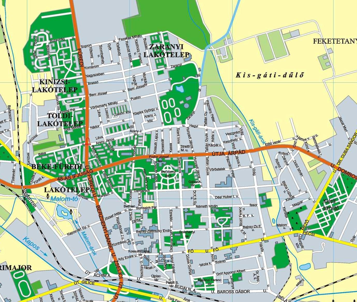 kaposvár térkép Kaposvár térkép