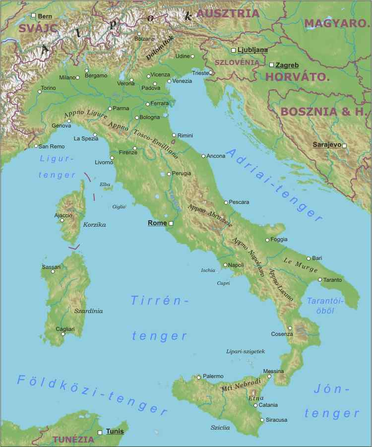 Olaszország hegységei