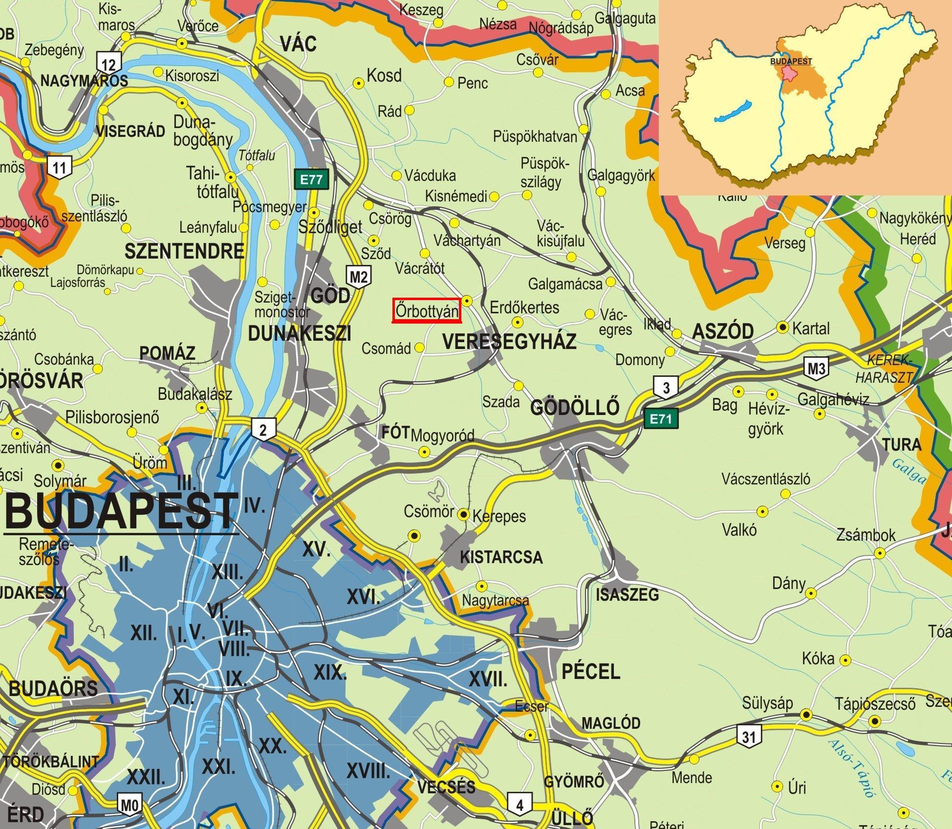 őrbottyán térkép Intelligens Otthon   Elérhetőségek őrbottyán térkép