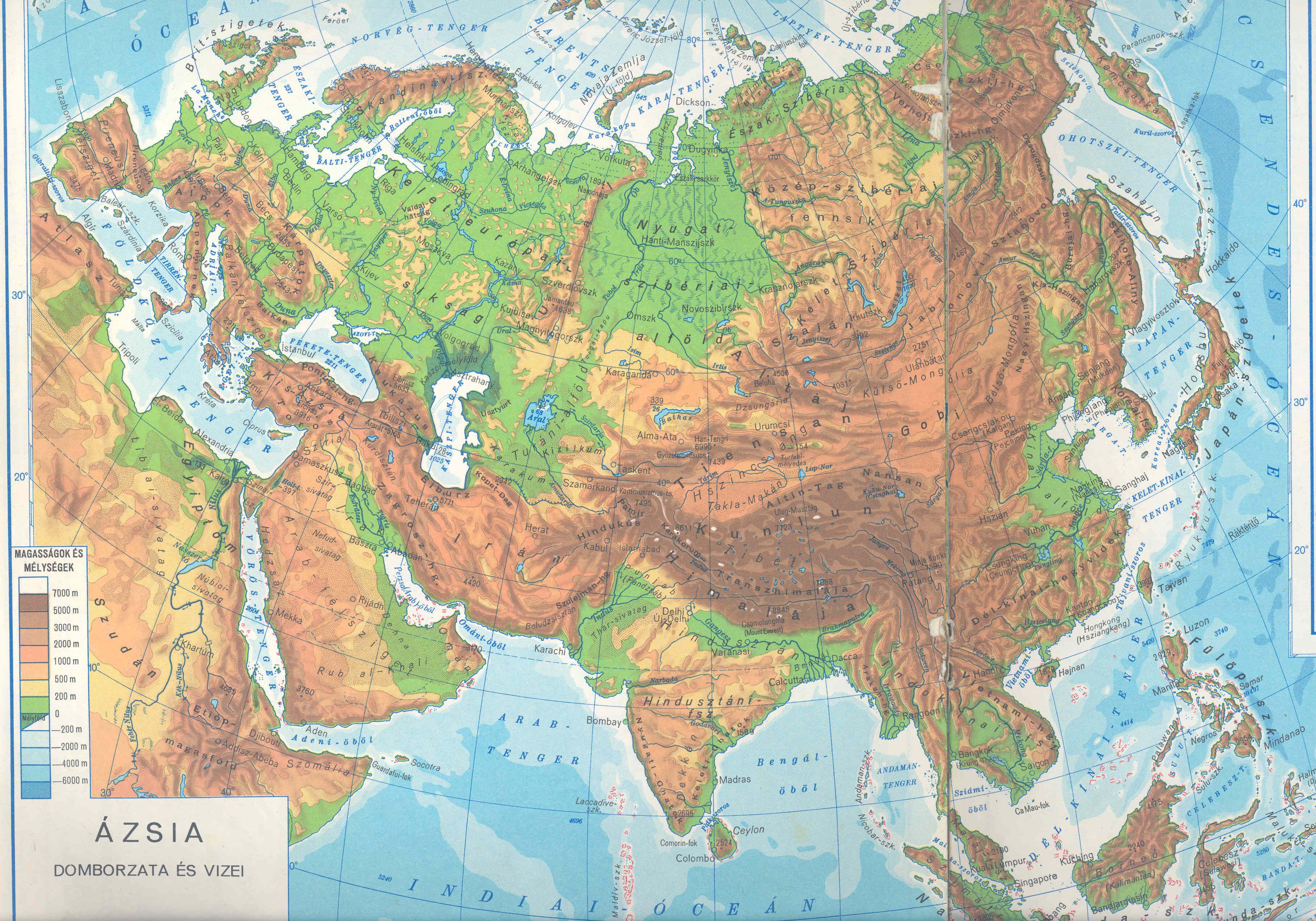 ázsia térkép domborzati Besenyők, besenyő törzsek, besenyő települések ázsia térkép domborzati