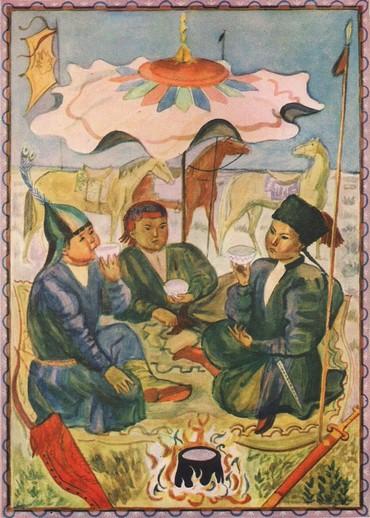 Árnyékot adó nyitott sátortető (V. A. Favorszkij)