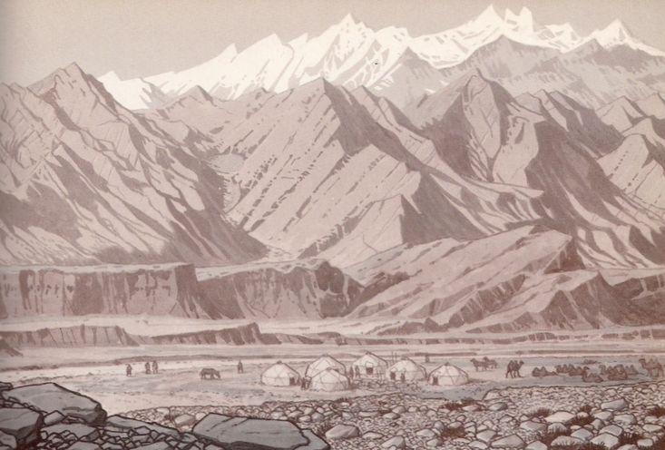 Kazah jurták a Pamír alatt Marco Polo idejében