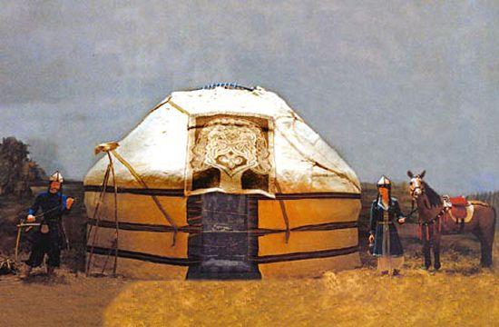 Honfoglalás-kori életkép jurtával (Békéscsaba)