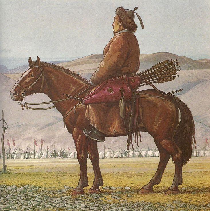 Mongol katonai tábor, ahogy Carpini láthatta