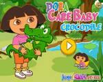 Dóra és a bébi krokodil