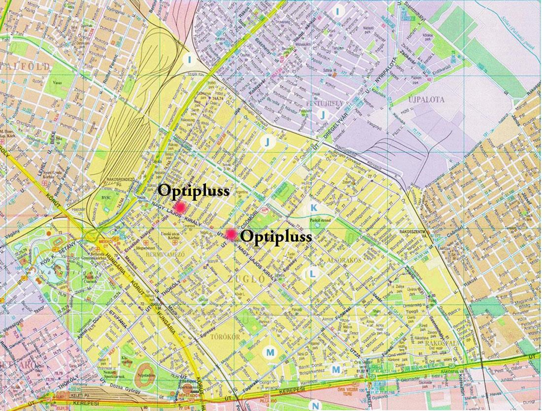 zugló térkép Optikai üzlet   Zugló zugló térkép