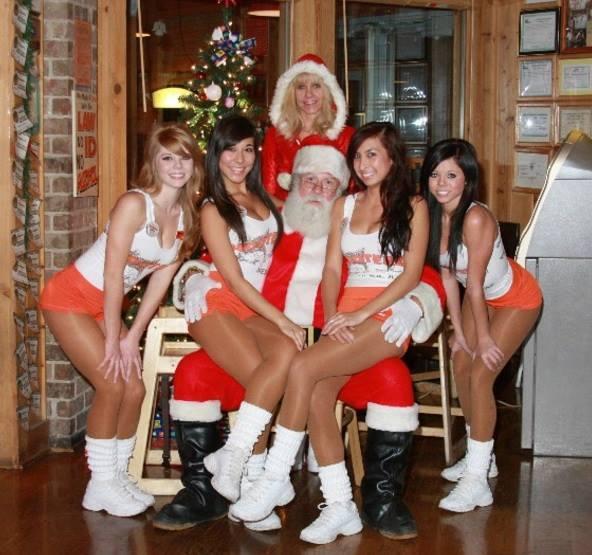 Xmas orgy santa fucks