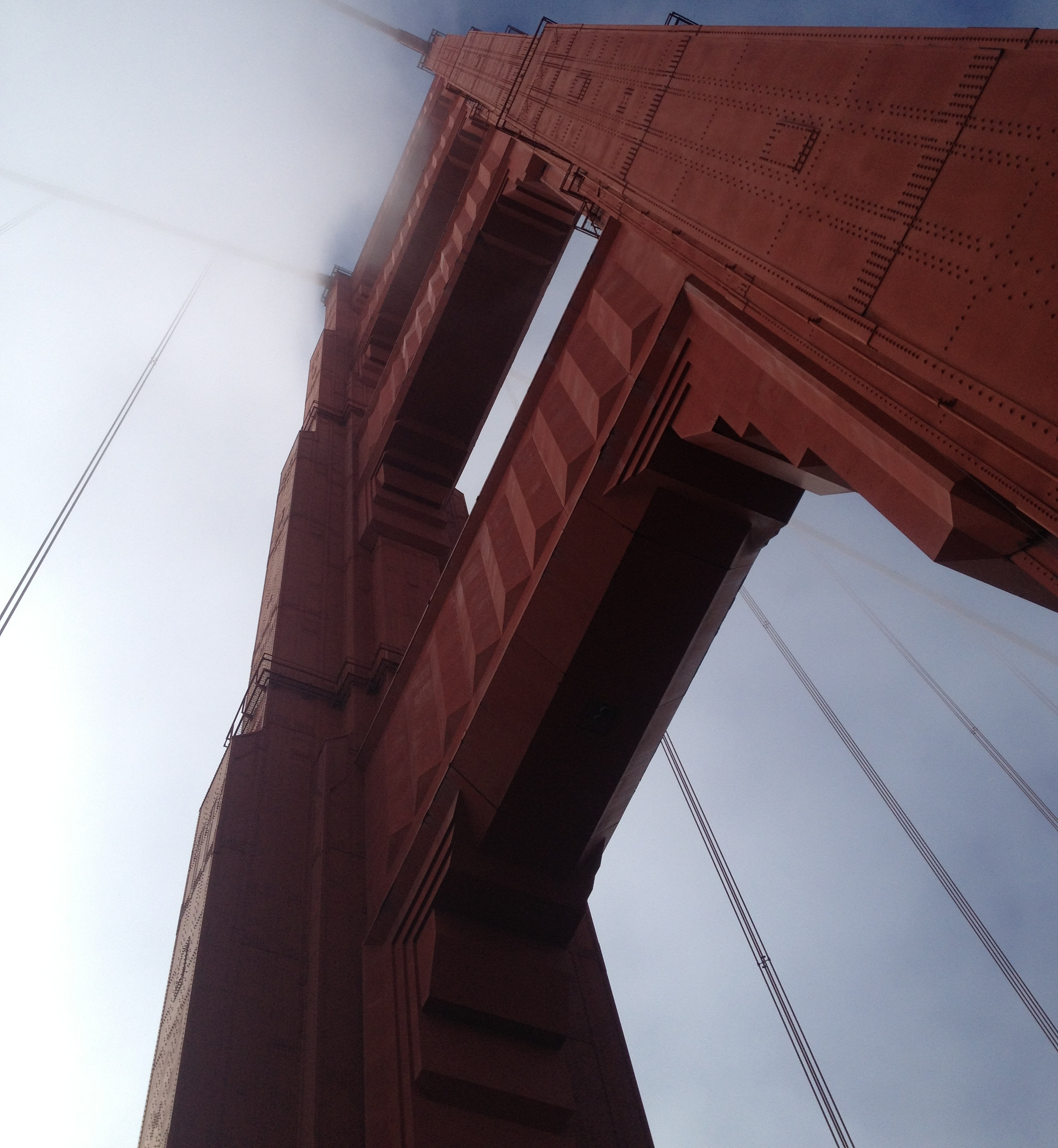 Art Deco in the usual summer fog - Golden Gate