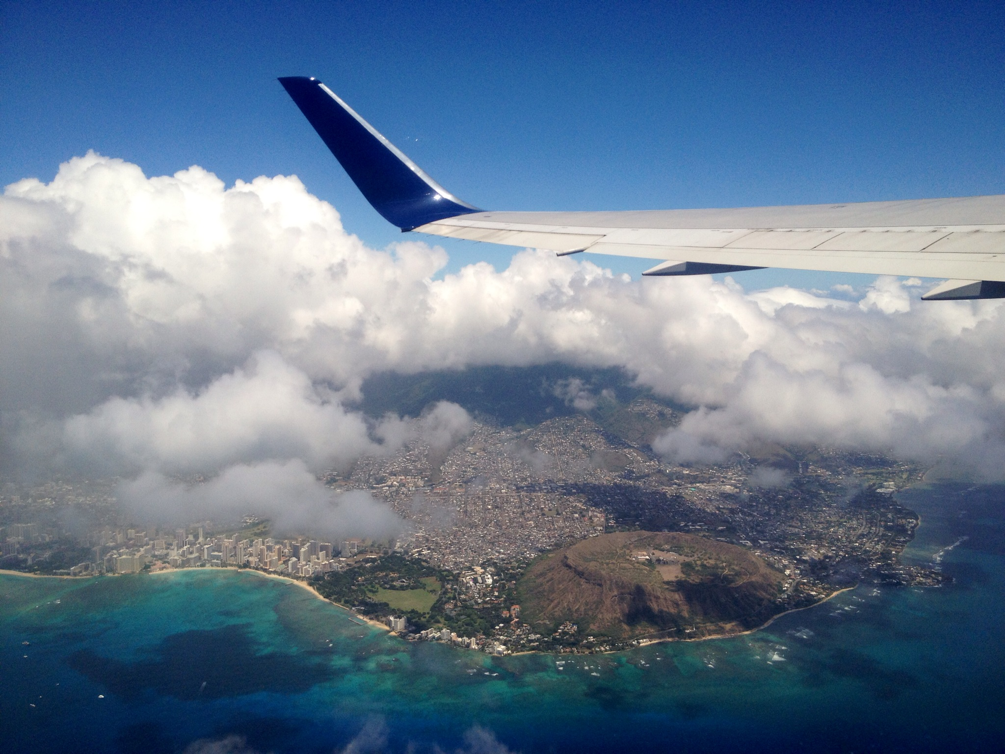 A quick look back to Waikiki and Diamond Head