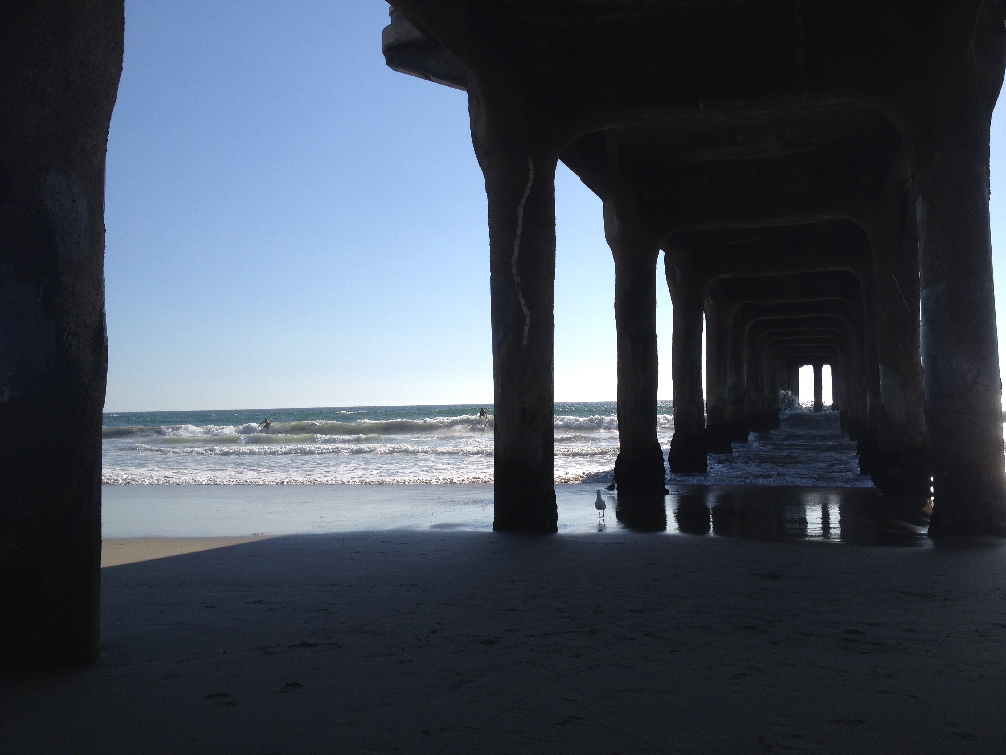 Under the Pier of Manhattan Beach