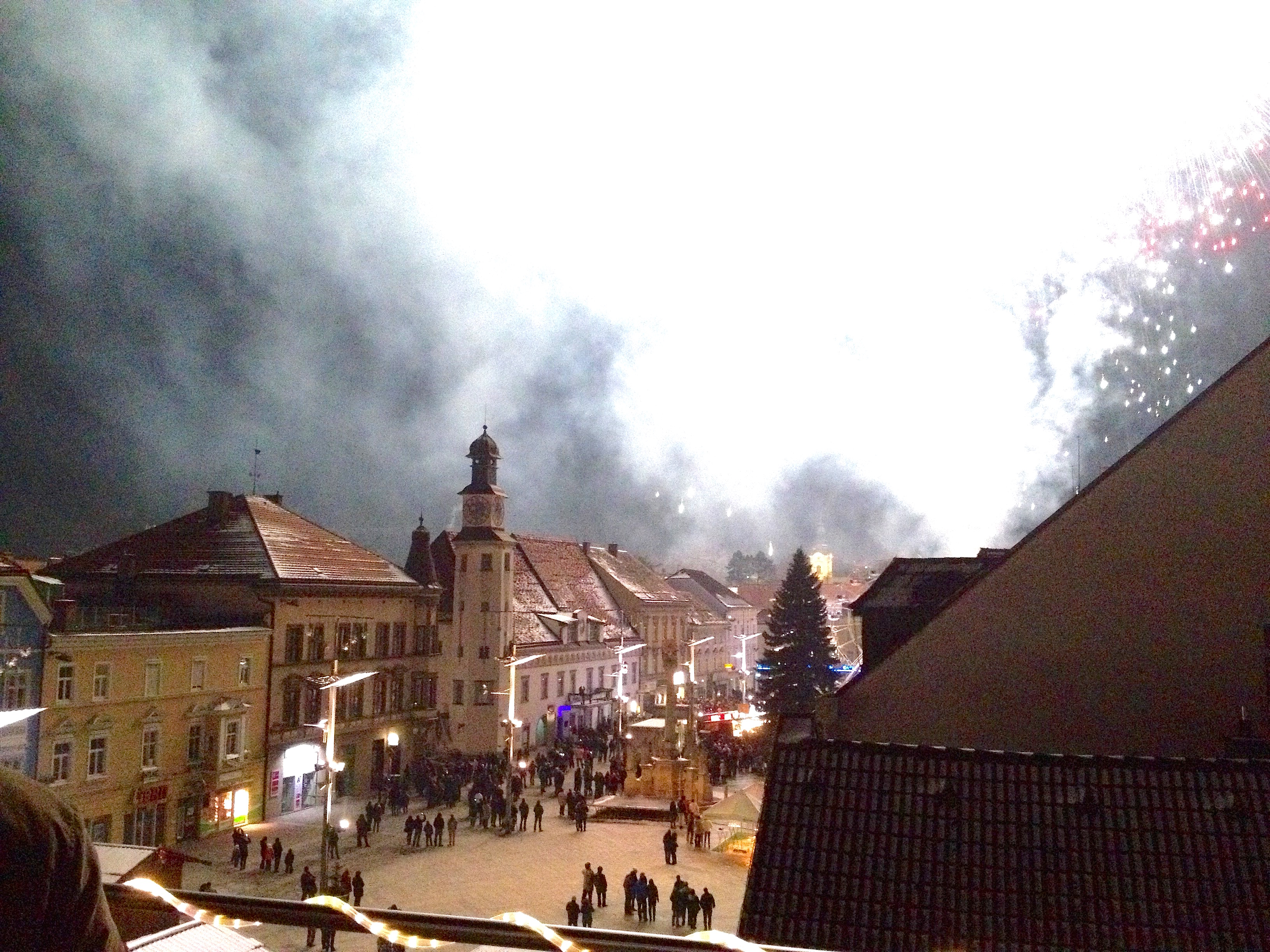 First moments of 2015 in Leoben, Austria