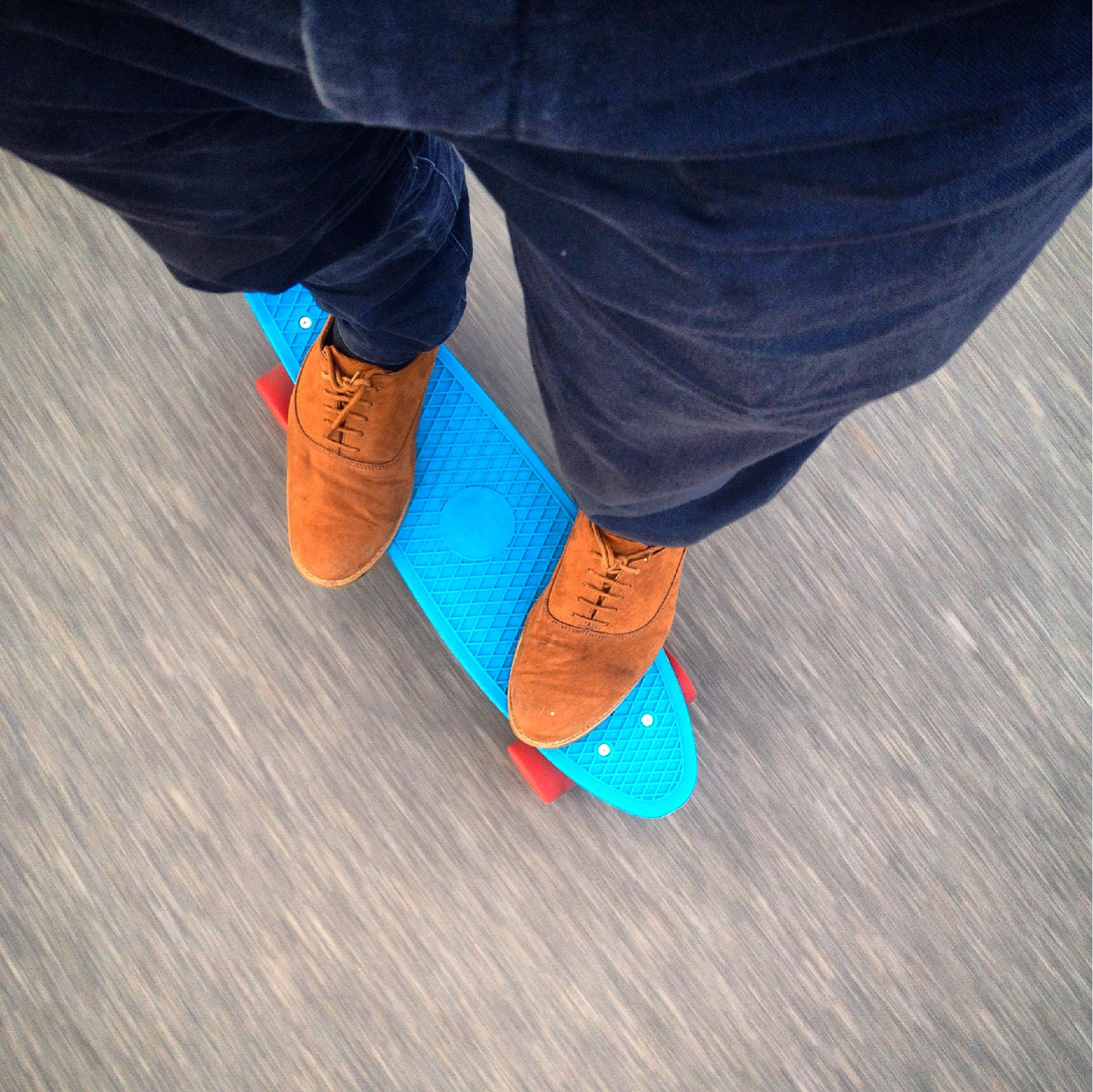 Like penny boarding to work in the early morning hours