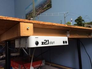 z21 felszerelve a H0-s asztalra