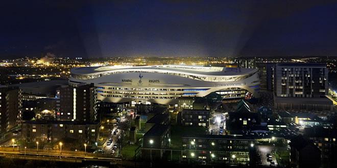 Az új stadion éjszaka