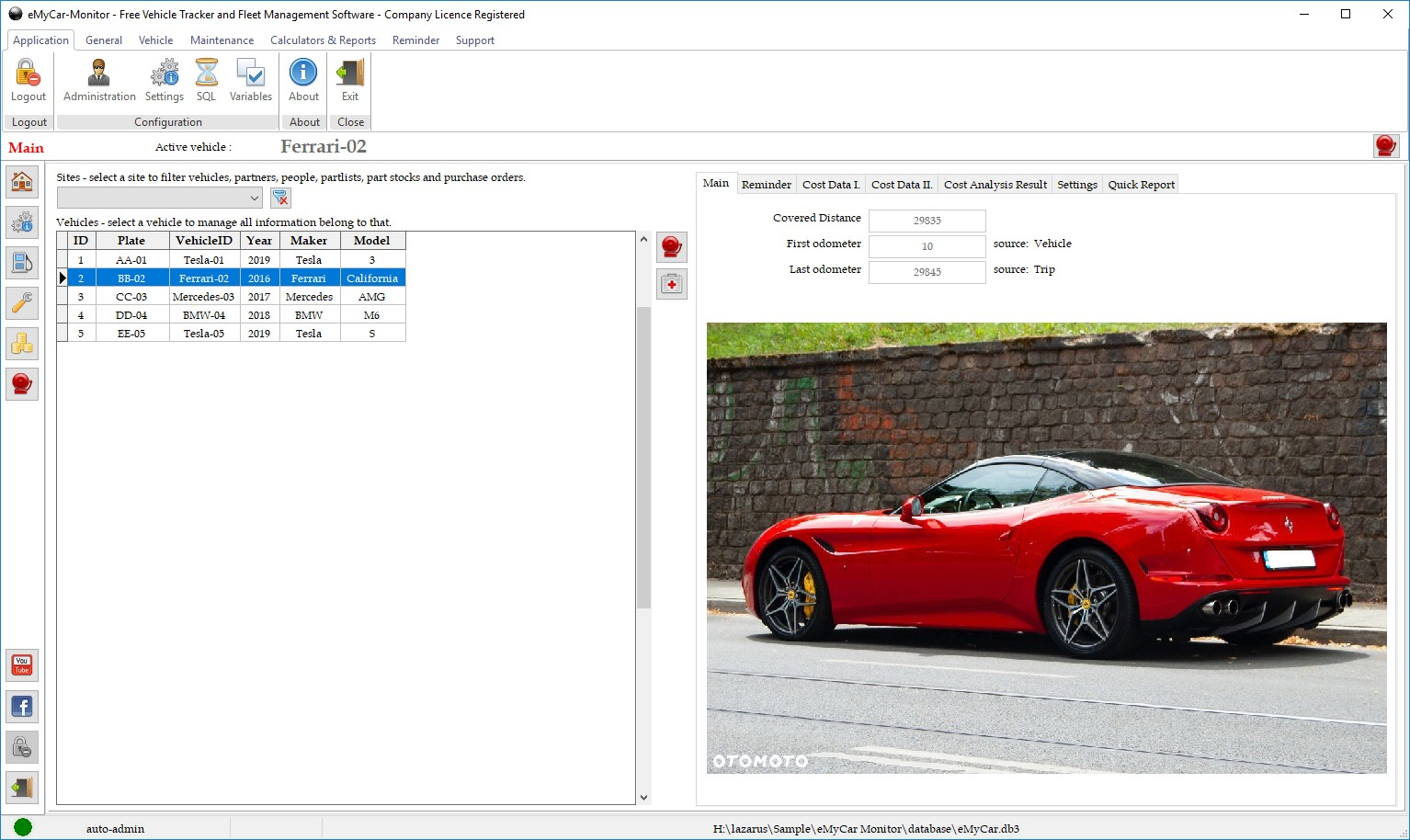 eMyCar Monitor for Windows Screen shot