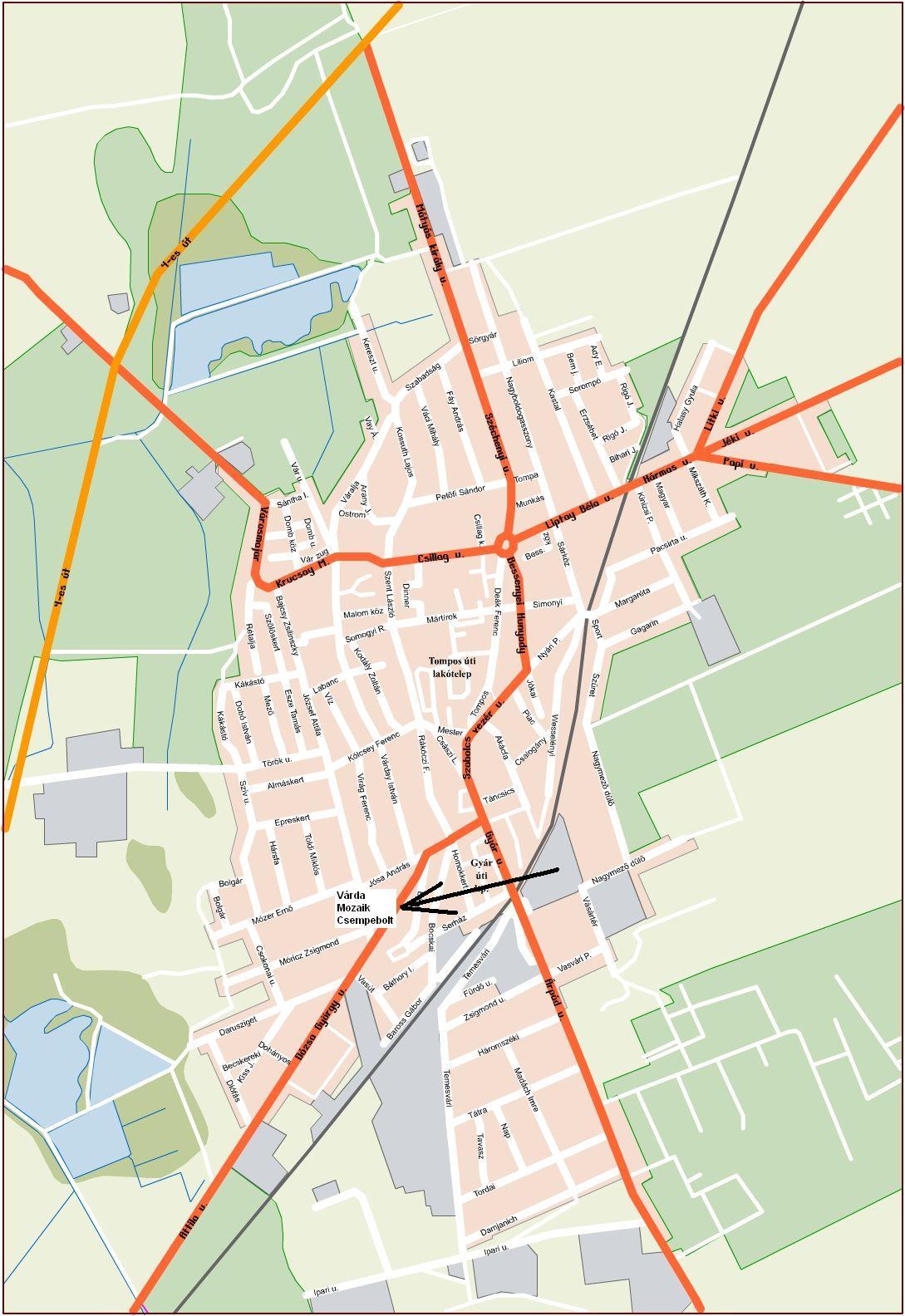 kisvárda térkép Várda Mozaik Csempebolt Kisvárda kisvárda térkép