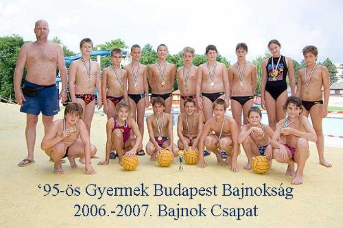 Image result for 2006/2007 vízilabda budapest bajnokság 95 gyerek