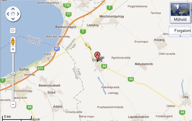 enying térkép Vas Gereben Művelődési Ház és Könyvtár enying térkép