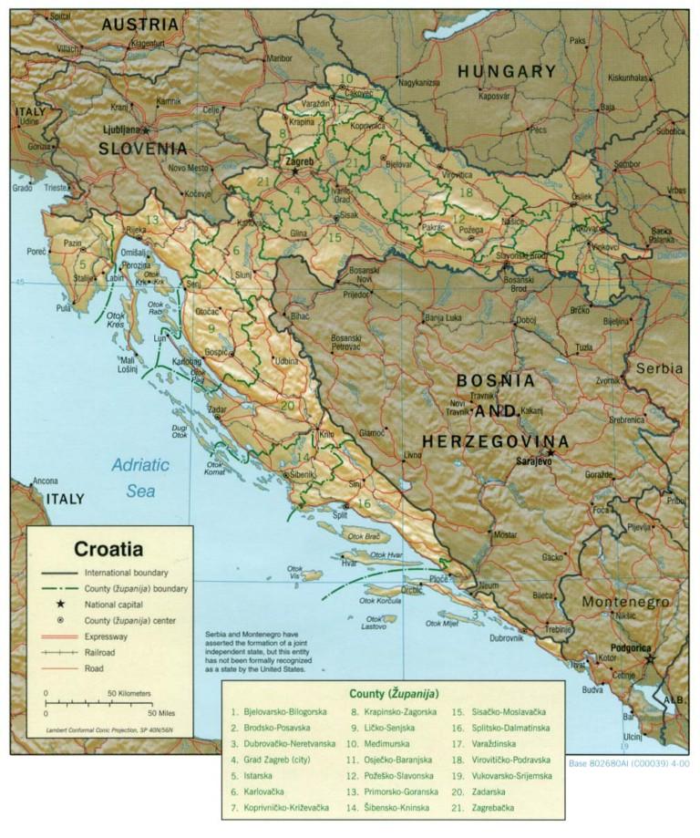 horvátország domborzati térkép Olcsó Horvátországi Nyaralás Az Adrián !!! Műholdképek, Térképek  horvátország domborzati térkép