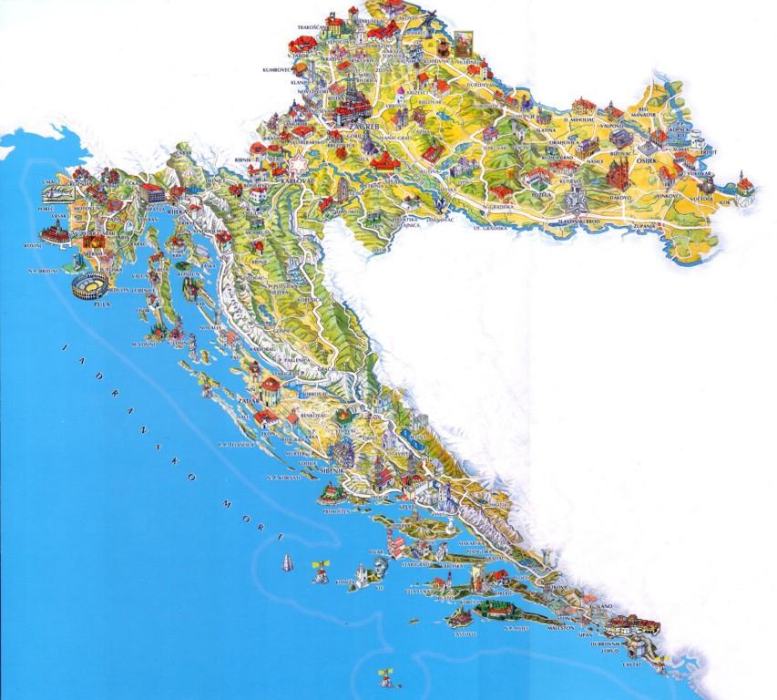 domborzati térkép horvátország Olcsó Horvátországi Nyaralás Az Adrián !!! Műholdképek, Térképek  domborzati térkép horvátország