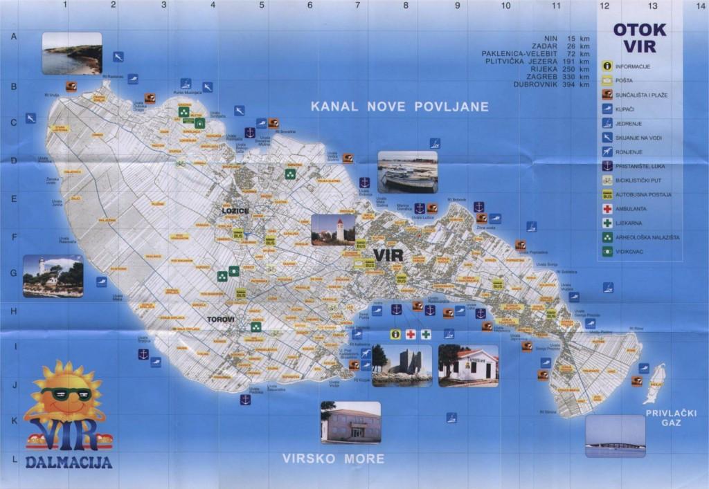 vir sziget térkép Olcsó Horvátországi Nyaralás Az Adrián !!! Műholdképek, Térképek  vir sziget térkép